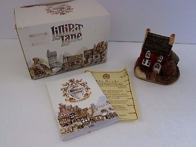 Lilliput Lane Miniature Masterpiece Holly Cottage United Kingdom 1984 Tate Box