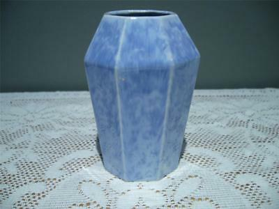 Art Deco Octagonal Posy Vase In Mottled Purple Glaze - Unbranded - Gc