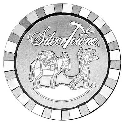 1 oz SilverTowne Stackable Poker Chip Silver Round (New)
