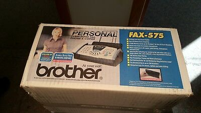 BRAND NEW! Brother FAX-575 Personal Plain Paper Fax Machine