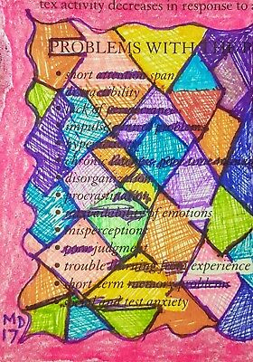 Aceo Bipolar Brut Art Marci Del Mastro Outsider Abstract Houses Mental Health