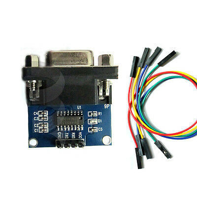 2018 RS232 To TTL Converter Module Serial Board MAX3232 TX RX GND Port & Cable