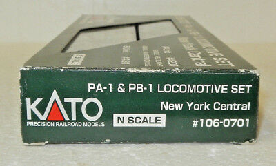Kato N Scale DCC Compatible New York Central PA-1/PB-1 Diesel #4201 & 4301