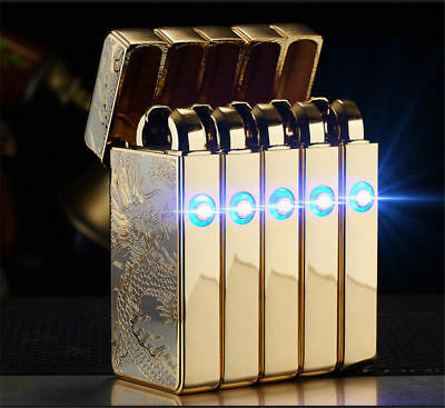 Atomic USB Electronic Lighter Double Arc Flameless Plasma Recharge Windproof NEW