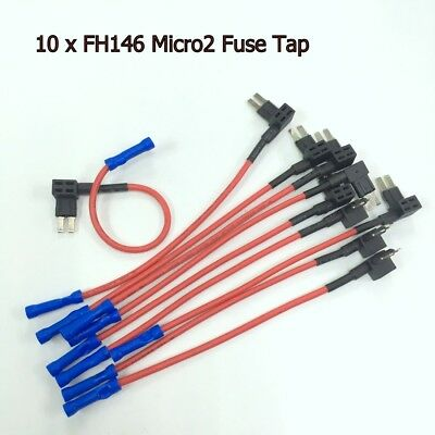 10 x FH146 NEW Micro2 Add-A-Circuit Fuse Tap ATR APT Fuse Holder Adapter #UKgtz
