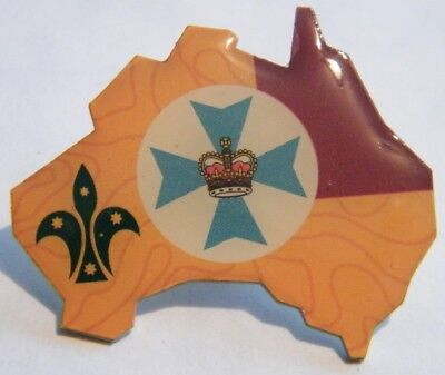 Scouts Australia Metal Pin Badge - QUEENSLAND - NEW & LIMITED EDITION
