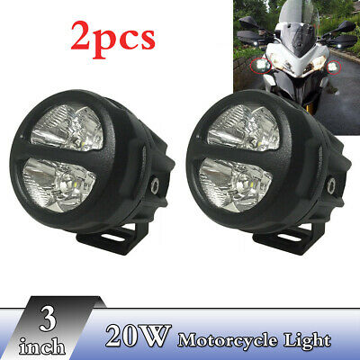 """2pcs 3"""" inch 20W CREE Led Driving Light Spot Beam For Motorcycle Headlight Front"""