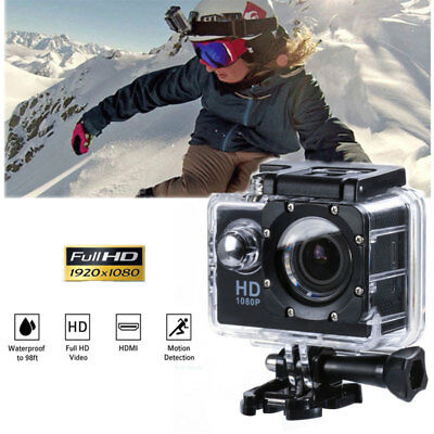 Action Camera Sport Waterproof Ultra Hd 1080P Mini Gopro Style Noir