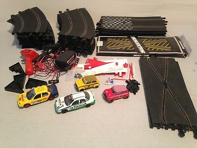 SCALEXTRIC Slot Car Set Lot Including 4 Cars