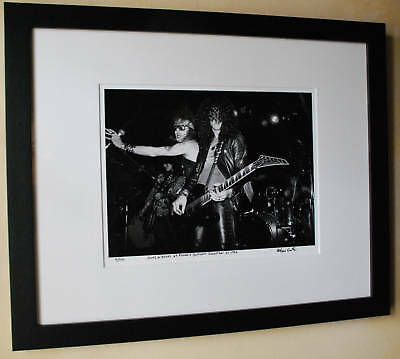 Guns N Roses Axl Rose Slash  Jackson Guitar 1986 fine art photo signed 12/100