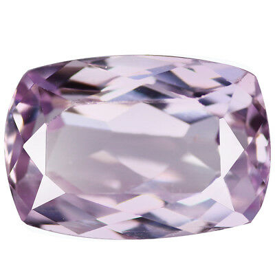 6.51Ct Five-star Cushion cut 13 x 9 100% Natural Top Luster Pink Kunzite