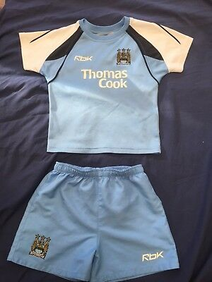 Manchester City's baby / toddler kit. Reebok. Size 12-24 months.
