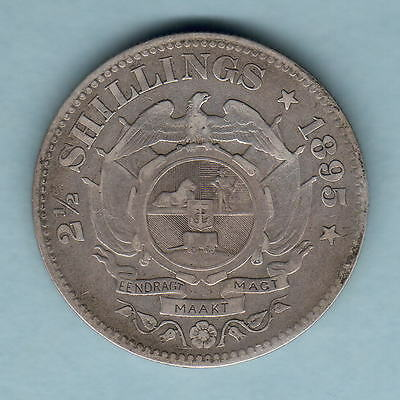 South Africa. 1895 2 1/2 Shillings..  aVF/F+
