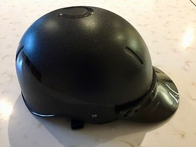 Large black horse-riding helmet Model EQ-5