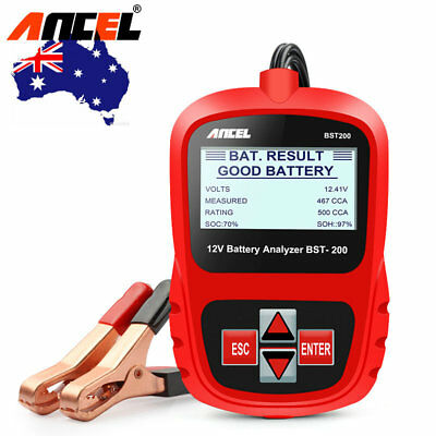 Digital Battery Analyzer 12V 100 -1100CCA Car Battery Load Tester ANCEL BST200