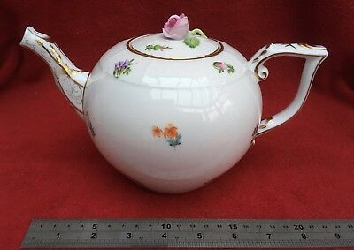 Herend Hungary Mille Fleurs 1.2L Teapot Rose Finial 604 / Mf Handpainted Perfect