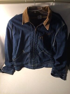 Vintage Lee 191-LB Union Made Blue Denim Jean Jacket Made In The USA Size 40R