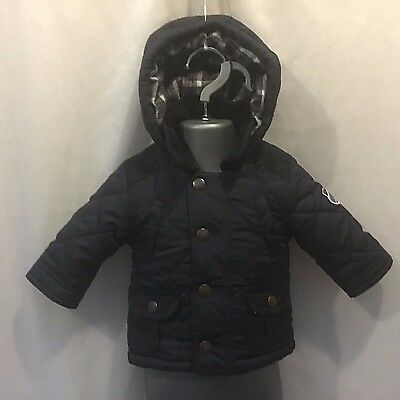 Jasper Conran Junior J Baby Boys Blue Padded Quilted Coat Jacket - 0-3 Months