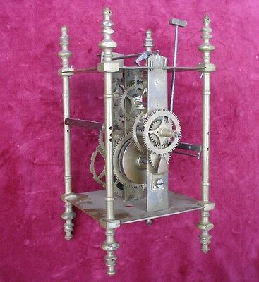 Very Good  Unusual 18Th C Brass 8 Day Lantern Clock Movement #1