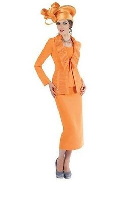 Tally Taylor Orange Polyester Church Suite Size 10