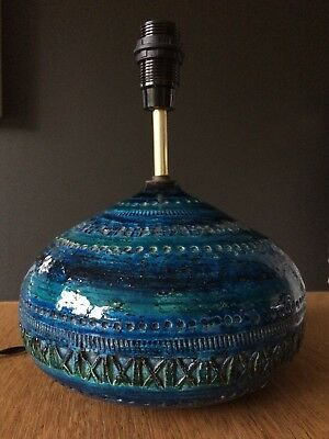 Bitossi style 1960s lamp, fully pat tested and re-wired