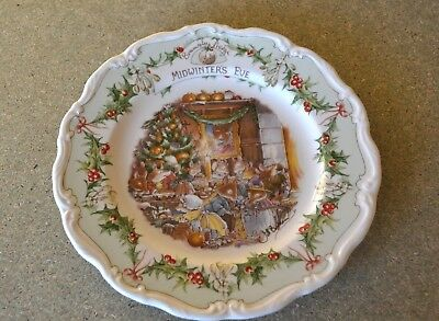 Royal Doulton Brambly Hedge Midwinter's Eve Plate 21cm x 21cm Jill Barklem #CL