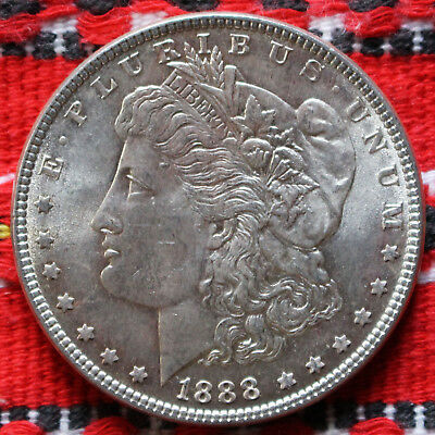 One Morgan Dollar USA 1888 (Philadelphia) Silver Dollar -2866-