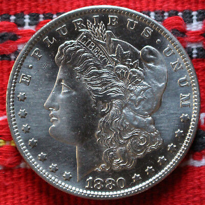 One Morgan Dollar USA 1880 S (San Francisco) Silver Dollar -2903-