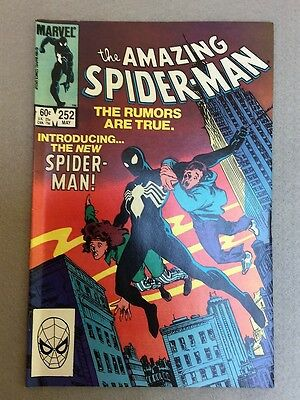 The Amazing Spider-Man #252 dons new black costume FN/VF