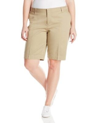 Women Junior's Dickies Classic Stretch Bermuda Shorts Size 9 Small Defect Read!!