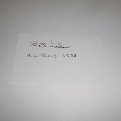 Bill Virdon is an American former MLB player + manager Hand Signed Index Card