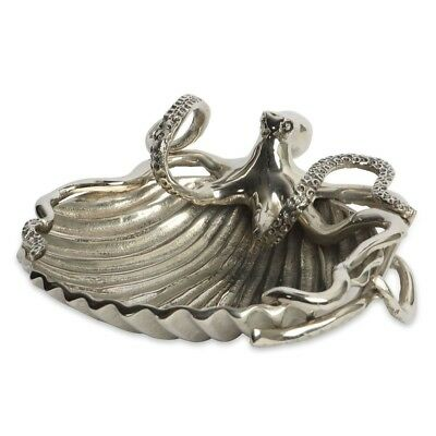 Culinary Concepts large silver octopus shell dish/bowl. Quirky/Nautical/Unusual.