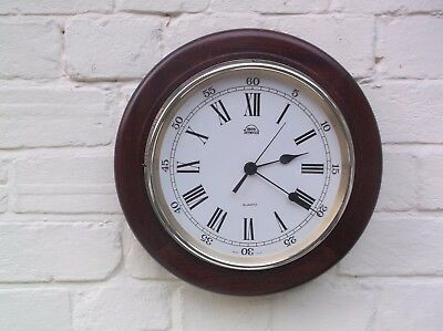 Smiths Quartz Wooden Wall Clock Battery Operated No Gong Or Chime
