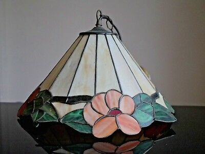 TIFFANY LAMP | TIFFANY LAMPSHADE PENDANT Art Deco Light Flower Rose Chandelier