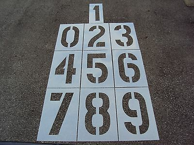 """24"""" x 12"""" x 1/8"""" Number Stencils for a Parking Lot, Parking Lot Number Stencils"""