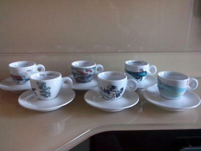 """6 Tazzine Illy Collection """"china"""" An Du"""