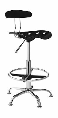 OneSpace 60-101605 Drafting Stool with Tractor SeatBlack Black
