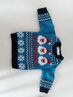 m&co boys christmas jumper 0-3 months