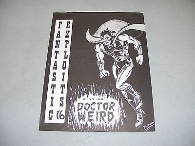 1969 comics fanzine FANTASTIC EXPLOITS 16 #16 Black Doctor Weird Buck Rogers