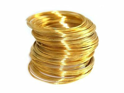 925 Sterling Silver 24k. gold plated round Wire Length 100 to 1000 mm BEST OFFER