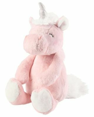 New Carter's Plush Girl's Doll Toy Happy Unicorn Sparkle Horn NWT 9 in Soft Pink