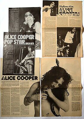 Alice Cooper Miniposter / Cutting / Clipping / Pin Up From  Rock Magazines # 1