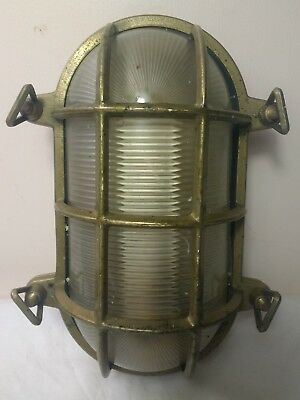 Vintage brass bulkhead light