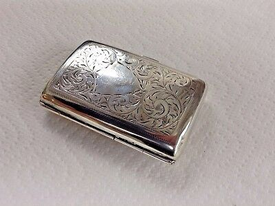 Antique Sterling Silver Cigarette Case by Birm Maker Henry Clifford Davies 1917