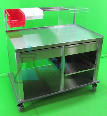 """Stainless Steel Mobile Laboratory Bench/Table with Drawers 33"""" X 52"""" X 48"""" #1"""