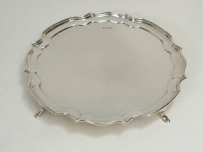 TABLETT massiv STERLING SILBER 925 DEKOR CHIPPENDALE - POSTON Ltd SHEFFIELD 1969