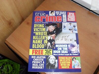 True Crime Detective Monthly magazine Oct 2017 Murder on the High Seas & more