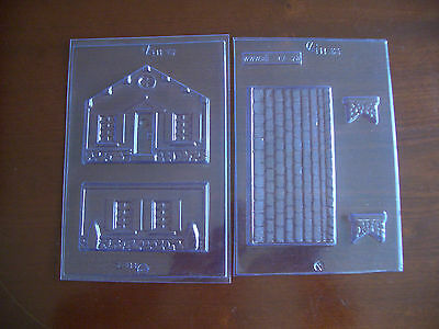 2 Piece House/cottage Chocolate Mould/moulds/gingerbread Style/lovely Gift Idea