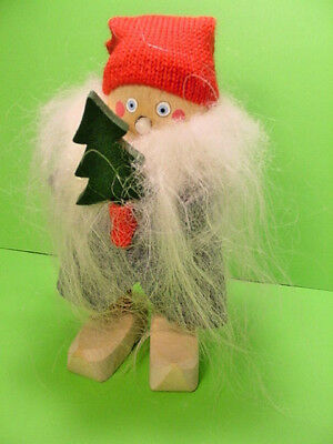 Wooden Swedish Scandanavian Christmas Tomte Man Xmas Tree-Wooden Shoes
