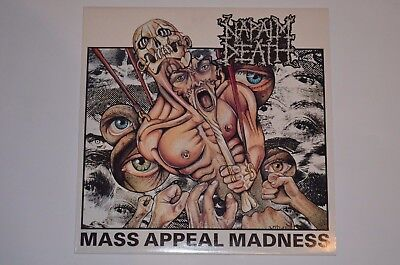NAPALM DEATH Mass Appeal Madness Grindcore LP 1. Press Earache 1991 Vinyl VG++